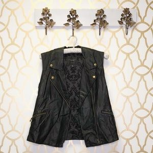 Sanctuary Faux Leather Edgy Vest in Black
